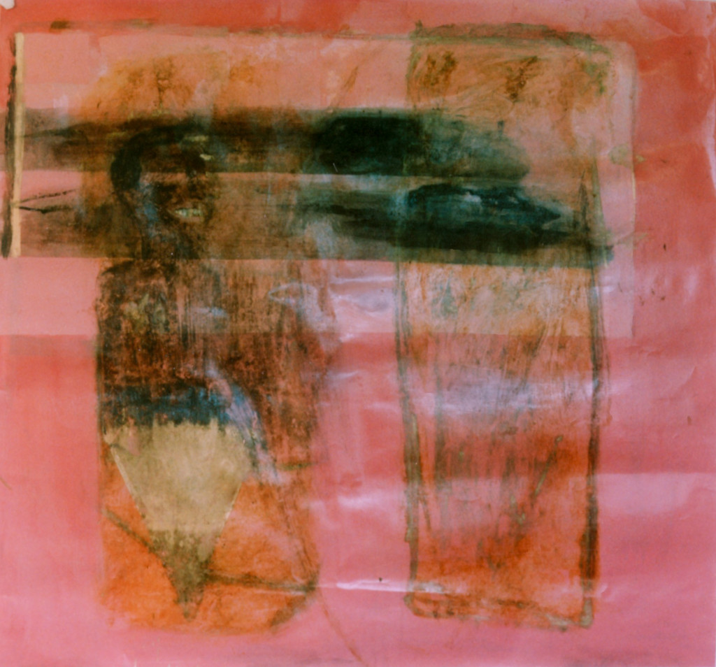 Mr. Cook laughs with the speed of light I (1990) - 200cm x 150cm - oil paint, car grease and graphite on paper