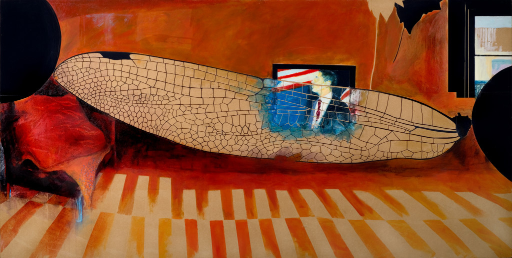 33 - Obamadragonfly (2009) - 240cm x 120cm - acrylic and indian ink on paper