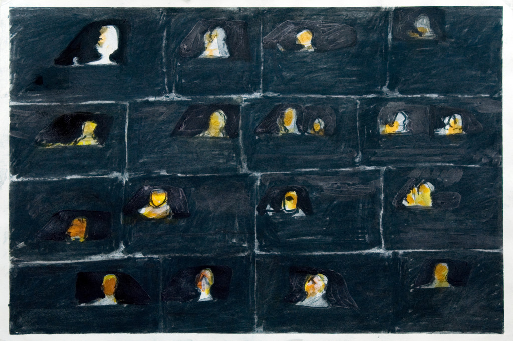 47 - Untitled (2010) - 65cm x 50cm - acrylic, charcoal and indian ink on paper