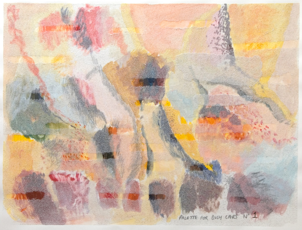 53 - Bush Palette (2011) - 65cm x 50cm - crayon, charcoal, indian ink and marble sand on paper