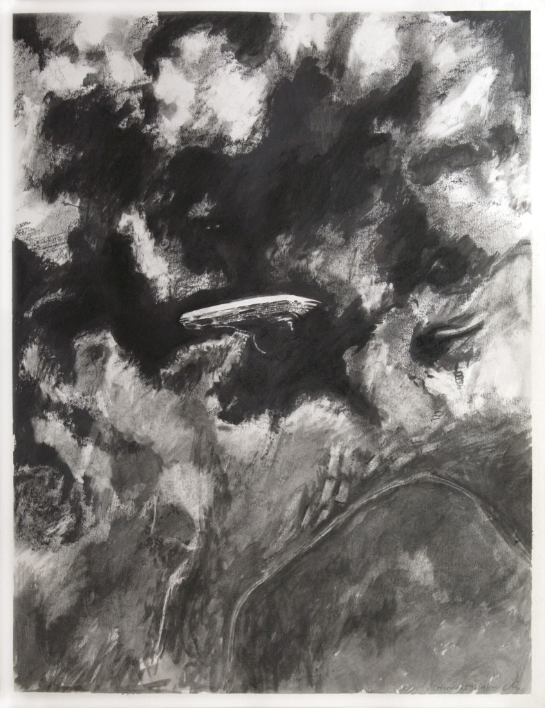 72 - Concordia I (2012) - 50cm x 65cm - charcoal and indian ink on paper