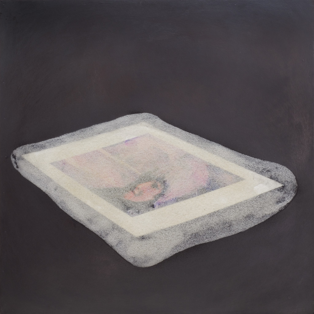 81 - Pat in Sedlejovice (2012) - 69cm x 69cm - graphite, acrylic, indian ink, pigment and marble sand on wooden panel